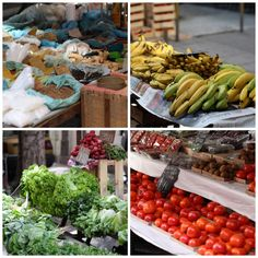 Spices; Bananas; Frothy Lettuces; Persimmons in the Rio market