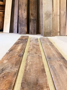 At Salvage Design Center, we always carry thousands of square feet of genuine barn wood. Often salvaged from Colorado barns, these boards are perfect for your next DIY or decor project! Home Design Decor, House Design, Home Decor, Reclaimed Barn Wood, Old Barns, Rustic Table, Square Feet, Colorado, Boards