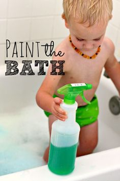 With a few supplies from the dollar store, you can turn bath time into a paint the bath activity. My kids loved this and said it was the best bath time EVER!