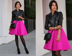 Cameo The Label Skirt, Hue Sheers, Gucci Bag Pink Skirt Outfits, Hot Pink Skirt, Pinker Rock, Girl Fashion, Fashion Outfits, Womens Fashion, Estilo Pin Up, Moda Chic, Colourful Outfits
