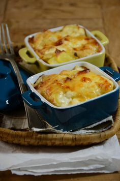 Potato gratin mini casseroles with tomme cheese - Recipe - Potato gratin mini casseroles with tomme cheese - Potato Recipes, Vegetable Recipes, Vegetarian Recipes, Healthy Recipes, Mini Cocotte Recipe, Potatoes Au Gratin, My Best Recipe, Cooking Time, Food Inspiration