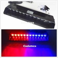 220.00$  Buy here - http://alig2n.worldwells.pw/go.php?t=32777999026 - Car Vechicle Led Emergency Strobe Flash Warning Light 12V 12 Led 36W  Flashing Lights Red Blue Amber White 220.00$