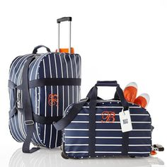 Rugby Stripe Rolling Duffel | Mark and Graham