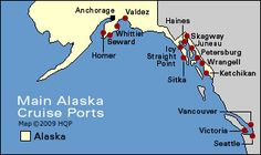 Best 4 Alaska cruise ports - by authority Howard Hillman
