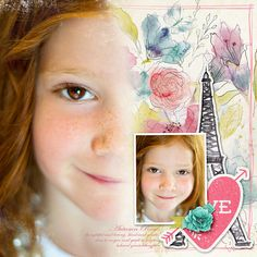Layout by Connie Miles using the February 2015 Collection LOVE STORY found only at Little Dreamer Designs || www.littledreamer.co
