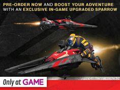 Destiny pre-order bonus 2: Receive an upgraded Sparrow rapid deployment vehicle. PS4,Xbox One