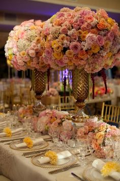 Big and bold - 2015 is all about the drama when it comes to floral arrangements. We're taking our cues from the queen of drama herself, Kim Kardashian. Rent your tents, tables, decor and more at TimelessWeddingsAndEvents.com/
