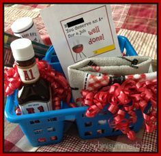 """Teacher appreciation gift for MALE teachers. BBQ / Grill themed.    """"You deserve an A+ for a job WELL DONE!"""""""