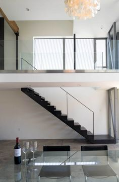 Loft with great stair - shear walls exposed