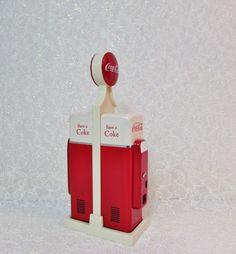 Coke Salt Pepper Shakers Coke Gas Pumps Vending by BeanzVintiques