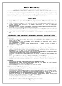 Power Resume Samples Terrific Power Plant Electrical Engineer Resume Sample  79 With .