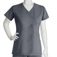 Grey's Anatomy Women's Criss-Cross Wrap Top #nursestyle #hospitalstyle #greysanatomy #scrubs