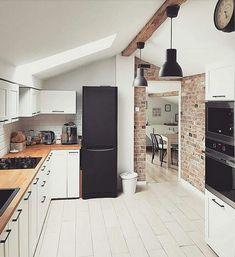 Simple Kitchen Design, Grey Kitchen Designs, Kitchen Room Design, Kitchen Dinning, Kitchen Colors, Kitchen Interior, Kitchen Decor, Cuisines Design, Beautiful Kitchens