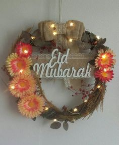 Birch wreath with Eid mubarak wooden sign/ islamic wreath/ Eid gifts/ eid decoration/ islamic gifts/ Eid celebration/ eid wreath Diameter 35 cm. Batteries are included Eid Mubarak Photo, Eid Mubarak Quotes, Eid Mubarak Images, Eid Mubarak Wishes, Happy Eid Mubarak, Ramadan Mubarak, Eid Pics, Eid Pictures, Eid Photos