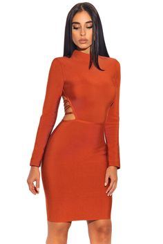 fd2a895f4c034 13 Best LONG SLEEVE bandage dress images | Long sleeve bandage dress ...