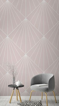 Carta da Parati Crawford Pink Art Deco These beautifully curated wallpaper designs are elegant and classy, containing the right amount of glamor to satisfy the sophisticated preppy.