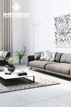 Keramische vloertegel in betonlook in een woonkamer | Ceramic floor ...