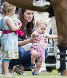 """Prince George his Mummy Catherine """"Kate """" Duchess of Cambridge at a Polo match on Father's Day 2014 that his father Will Duke of Cambridge competed in. Prince George Photos, Prince William And Kate, William Kate, Prince Charles, Prince Georges, Prince George Alexander Louis, Kate Middleton, Duchess Kate, Duchess Of Cambridge"""