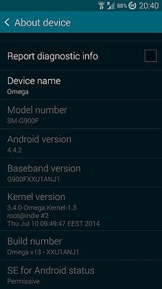 Omega Rom v13 for Galaxy S5 G900F - G900I - G900M - G900T - G900W8 Android 4.4.2 Kit Kat