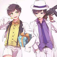 ichimatsu, jyushimatsu, and osomatsu-san image Manga Anime, Anime Art, Cool Anime Pictures, Osomatsu San Doujinshi, Gakuen Babysitters, Gekkan Shoujo Nozaki Kun, White Day, Ichimatsu, Cute Anime Guys
