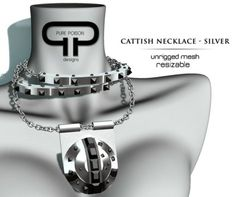 Pure Poison - Cattish Studded Collar - Silver