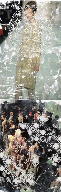 elise wehle - paper cutting/mixed media {fashion}