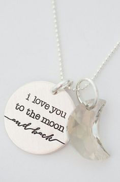 I love you to the moon and back | jewelry design