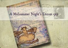 A Midsummer Night's Dream 5x7 Printable - altered art hang tags greeting cards craft supplies scrapbooking fantasy fairies wedding