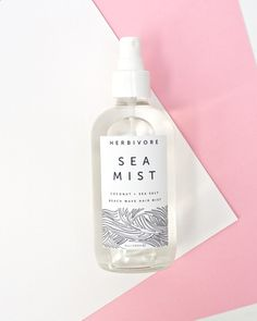 LOVE LOVE this Sea Mist Hair Spray / Coconut. The smell is amazing - made by Herbivore Botanicals (check out their charcoal soap too)
