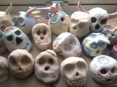 Yr 8 clay skull (half way)