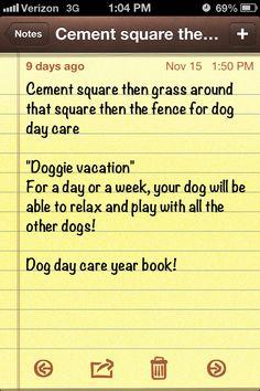 Doggy daycare <3 ideas