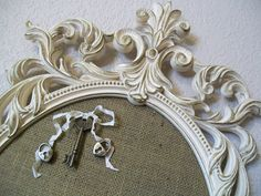 FRAMED MEMO BOARDRomantic Ornate Vintage Frame by shabbymcfabby - I cannot WAIT to purchase something from here...Such awesome Ideas!!! Chalkboards... frames, mirrors...right up my alley