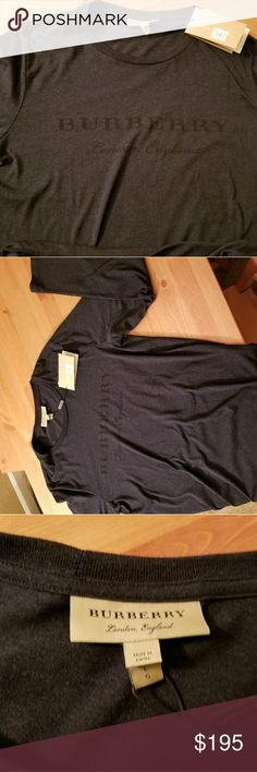 Burberry Mens Long sleeve Brand new shirt with tags. Navy blue . Never worn Burberry Shirts Tees - Long Sleeve
