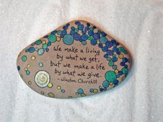 Stone Poem...Custom Order for Joanna