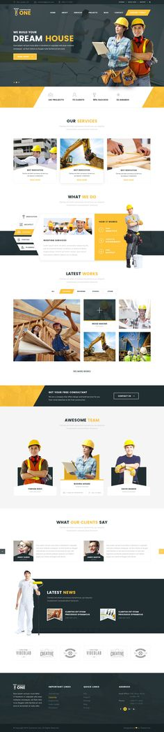Constructor One is a construction based PSD Template. This template is Website Design Inspiration Web Design Websites, Web Ui Design, Web Design Trends, Page Design, Brochure Design, Website Design Inspiration, Website Design Layout, Web Layout, Layout Design