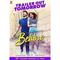 #RanveerSingh and #VaaniKapoor's #BefikreTrailer to be launched in Paris tomorrow. Directed by #AdityaChopra  #BefikreOn9th #BefikrePoster #YRF #yashrajfilms #firstlook #poster #movieposter #firstlook #movie #film #celebrity #bollywood #bollywoodactress #bollywoodactor #bollywoodmovie #actor #actress #filmywave