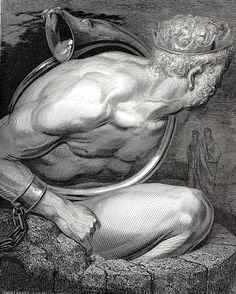 Nemrod habla un lenguaje ininteligible y Virgilio en vano le conmina a que toque su instrumento puesto que tampoco entiende lo que le dicen.  Nemrod o Nimrod fue un monarca legendario de Mesopotamia, mencionado en el capítulo 10 del libro de Génesis, quien además figura en numerosas leyendas y cuentos. La tradición lo presenta como un tirano impío que construyó la Torre de Babel