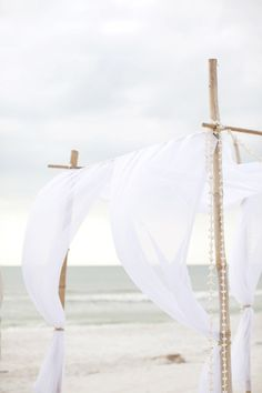 Wedding Ideas: white-linen-canopy-wedding-ceremony-decorations