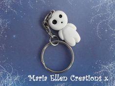 Kodama Keyring Princess Mononoke Jewelry by MariaEllenCreations