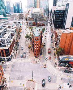 Streets of Toronto ( Toronto Street, Toronto City, Downtown Toronto, Art Toronto, Toronto Vacation, Toronto Travel, Beautiful Places To Visit, Places To See, Ontario
