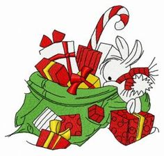 Presents for bunnies 5 machine embroidery design. Machine embroidery design. www.embroideres.com