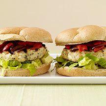 Feta Stuffed Chicken Burgers