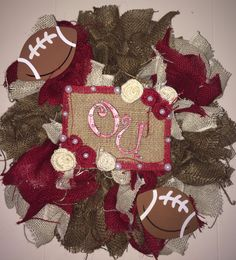 Oklahoma Sooners Burlap Wreath!