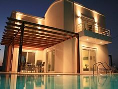 Afandou Luxury Villa with Private Pool & Garden. All-day Sun and Sea Views