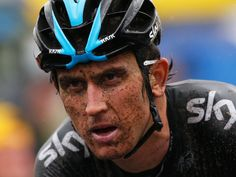 TOUR DE FRANCE STAGE FIVE GALLERY Thomas's face reflected the conditions as he crossed the line