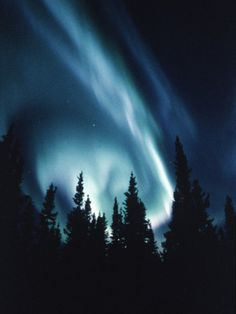 Northern Lights in Night Sky Photographic Print at Art.com