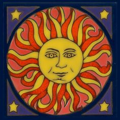 Sun magnet by PacificBlueTile on Etsy, $4.00