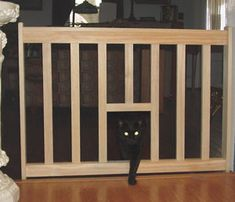 Cat Escape Gate With Cat Door   Pet Gate And Safety Gate. DIY Plans $10