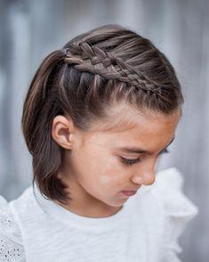 A little Dutch five strand braid for short hair! ••••• #braid #hotd #shorthair #hair #braids #kidsfashion #kidsbraids #brunette #love #bestoftheday #instagram #instacute
