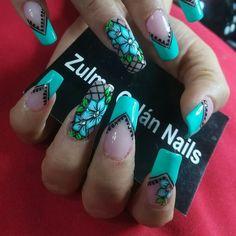 Flower Nail Art, Beauty, Beleza, Cosmetology, Floral Nail Art